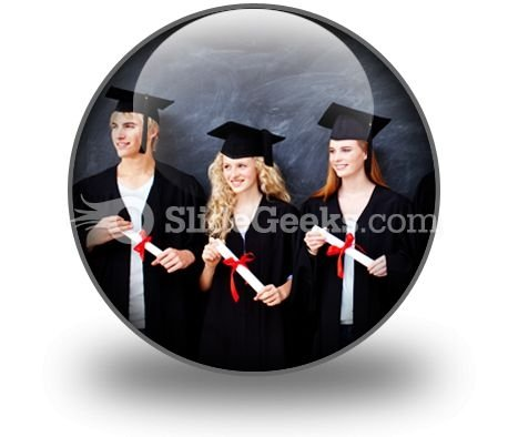 Graduate People PowerPoint Icon C