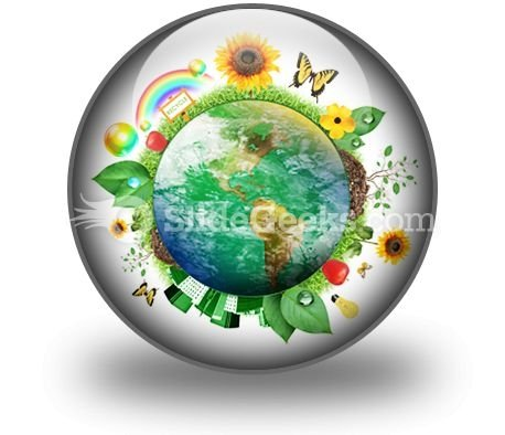 Green Nature Earth PowerPoint Icon C