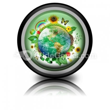 Green Nature Earth PowerPoint Icon Cc