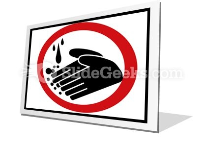 Hand Washing Circle PowerPoint Icon F