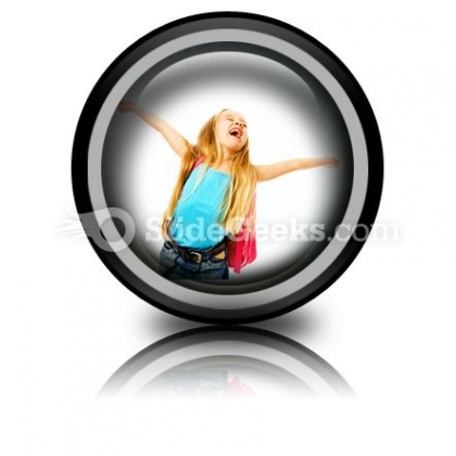 Happy Young Girl Ppt Icon For Ppt Templates And Slides Cc
