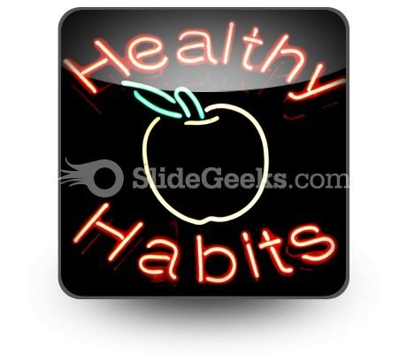 Healthy Habits PowerPoint Icon S