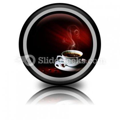 Hot Coffee PowerPoint Icon Cc