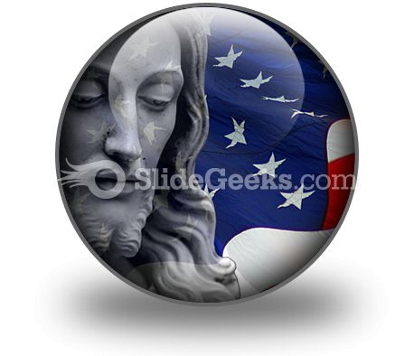 Jesus In America People PowerPoint Icon C