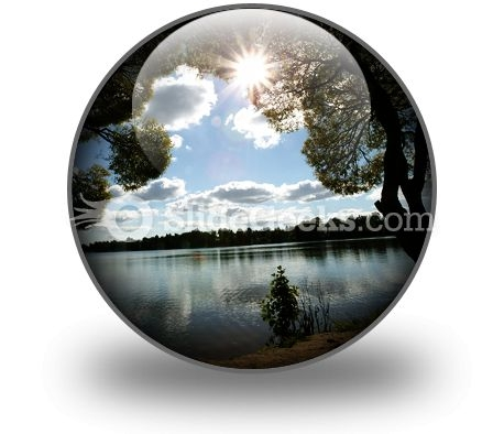 Lake Sun PowerPoint Icon C
