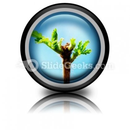 Tree Leaves PowerPoint Icon