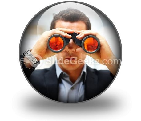 Looking For Success PowerPoint Icon C
