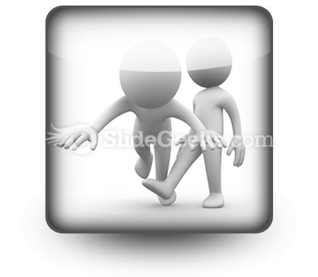 Make Him Fall Down Ppt Icon For Ppt Templates And Slides S