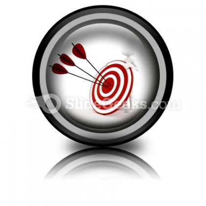Man Behind Target PowerPoint Icon Cc