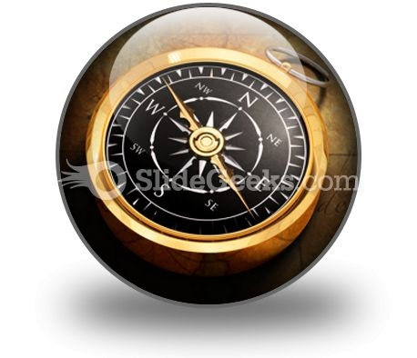 Map Compass PowerPoint Icon C