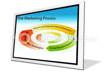Marketing Process Chart PowerPoint Icon F
