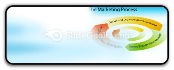 Marketing Process Chart PowerPoint Icon R