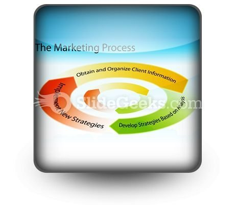 Marketing Process Chart PowerPoint Icon S