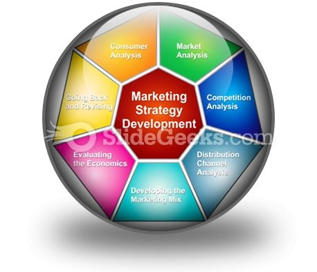 Marketing Strategies Development PowerPoint Icon C