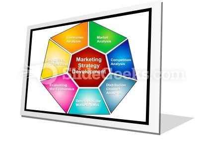 Marketing Strategies Development PowerPoint Icon F