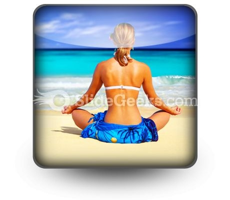 Meditating On Sea PowerPoint Icon S