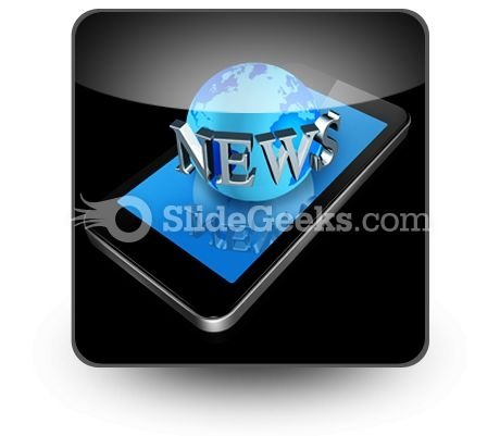 Mobile Phone And News World Ppt Icon For Ppt Templates And Slides S