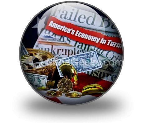 Money Market Mess PowerPoint Icon C
