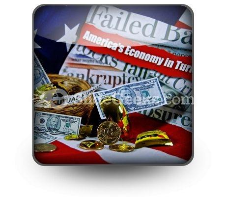 Money Market Mess PowerPoint Icon S