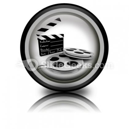 Movie Objects Clipper PowerPoint Icon Cc