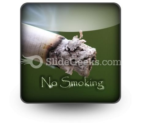 No Smoking PowerPoint Icon S