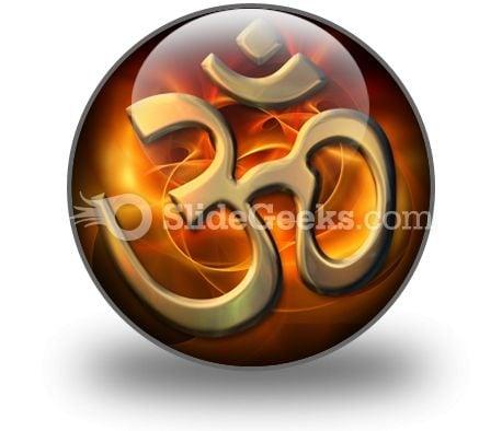 Om Religion PowerPoint Icon C