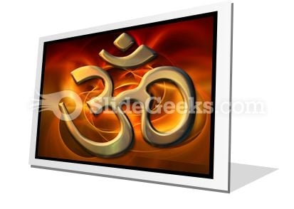 Om Religion PowerPoint Icon F