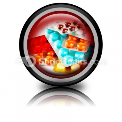 Packs Of Pills PowerPoint Icon Cc