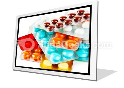 Packs Of Pills PowerPoint Icon F