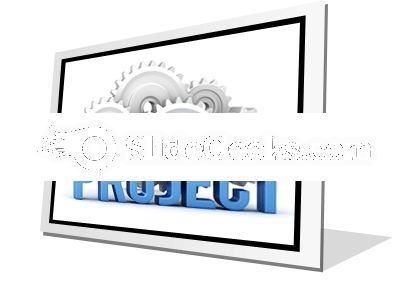 Project With Cogs PowerPoint Icon F