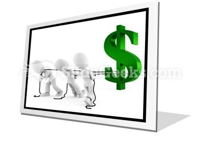 Pulling Dollar Symbol PowerPoint Icon F