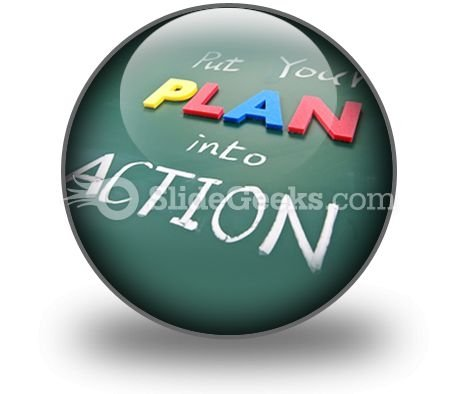 Put Your Plan Into Action Ppt Icon For Ppt Templates And Slides C