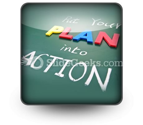 Put Your Plan Into Action Ppt Icon For Ppt Templates And Slides S