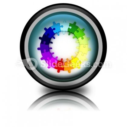 Puzzle Chart Wheel PowerPoint Icon Cc