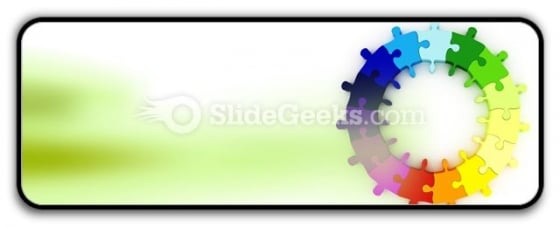 Puzzle Chart Wheel PowerPoint Icon R