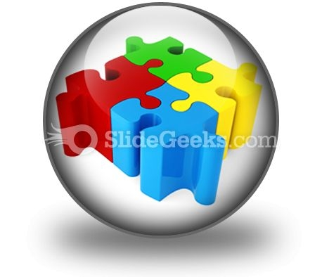 Puzzle ConnectedPowerPoint Icon C