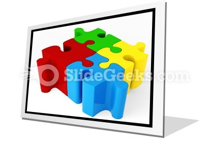 Puzzle ConnectedPowerPoint Icon F