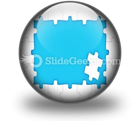 Puzzle Pieces Frame PowerPoint Icon C