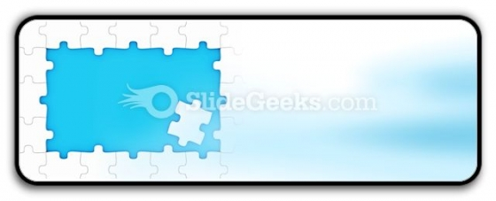 Puzzle Pieces Frame PowerPoint Icon R