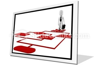 Red Diagram Chart PowerPoint Icon F