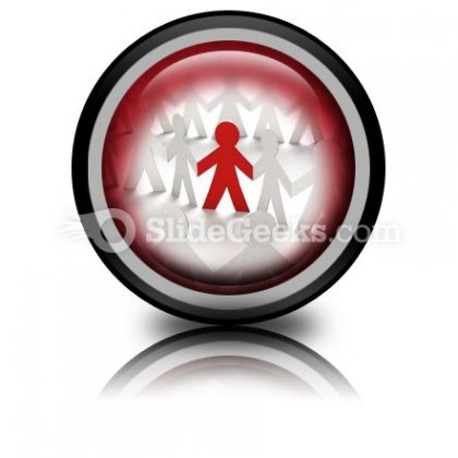 Red Leadership PowerPoint Icon