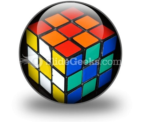 Rubix Cube PowerPoint Icon