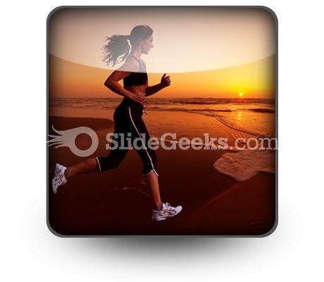 Running PowerPoint Icon S