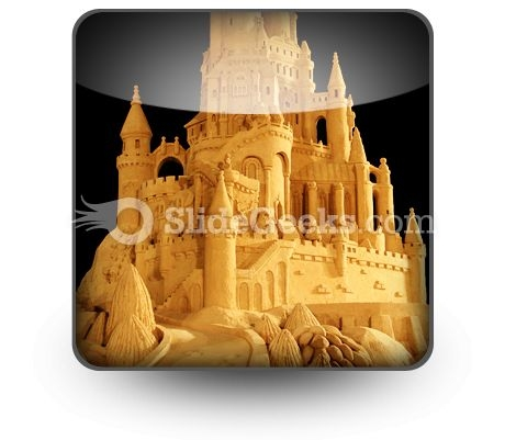 Sand Castle PowerPoint Icon S