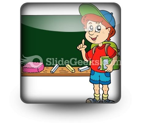 School Boy PowerPoint Icon S