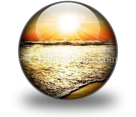 Sea Sunset PowerPoint Icon C