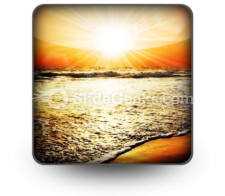 Sea Sunset PowerPoint Icon S