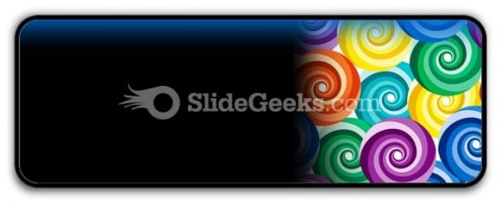 Seamless Vivid Swirl Pattern PowerPoint Icon R