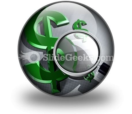 Searching For Dollar PowerPoint Icon C