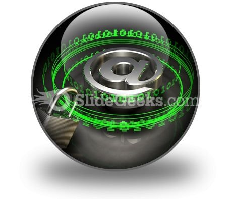 Secure Digital Mail PowerPoint Icon C